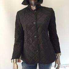BURBERRY BRIT WOMEN'S NOVA CHECK DETAIL QUILTED JACKET COAT SIZE L