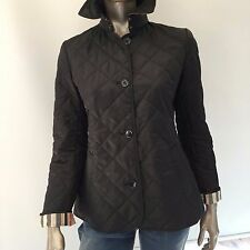BURBERRY BRIT WOMEN'S NOVA CHECK DETAIL QUILTED JACKET COAT SIZE M