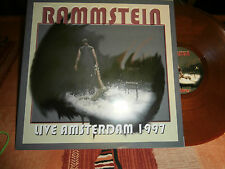 "rammstein""live amsterdam 1997limited.vinyl rouge/orange.hdc001.mint.neuf."