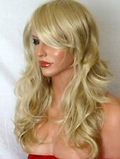 Blonde fashion Wig long curly party full lady ladies hair wig ash blonde P22