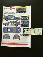 DECALS 1/24 SUBARU IMPREZA WRC COLIN MC RAE RALLYE TOUR DE CORSE 1997 RALLY