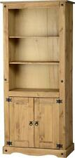 Corona 2 Door Display Unit/Bookcase in Distressed Waxed Pine - Free Delivery