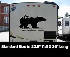 Black Bear with eagle & woods Decal for rv travel trailer camper Take Nothing Bu