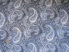 "White & Black Paisley Viscose Fabric 60""  Wide Sewing by the Metre Monochrome"