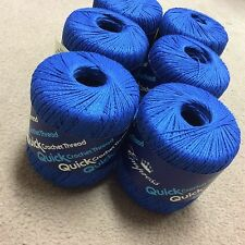 22 Roll Lot of Blue Quick Crochet Thread BRAND NEW Size 3