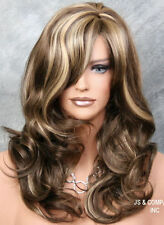 Latest Wavy Long Soft Chest Brown Mix Wig w. bangs jsbc 8-12-24