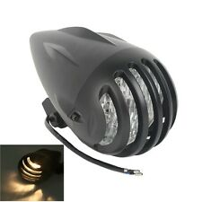 Black Invader Torpedo Headlight For Harley Backroad Flyrite Chopper Sportster XL