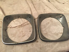 74-76 Ford Gran Torino Ranchero Headlight Bezels Metal