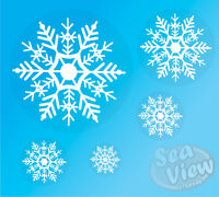 96 Large Snowflake Window Stickers Reusable Christmas Decorations Static Cling L