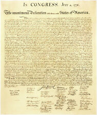 13x18 Frameable & Durable Heavyweight Poster Print: Declaration of Independence