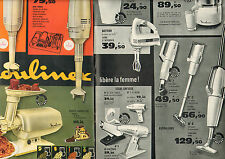 Publicité Advertising 1963 ( Double page ) MOULINEX robot aspirateur hachoir