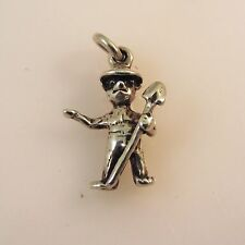 .925 Sterling Silver 3-D SMOKEY THE BEAR CHARM NEW Pendant 925 AN56