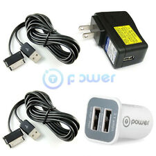 fit Samsung Galaxy Tab 2 10.1 SCH-I915TSAVZW Ac Adapter+Car Charger Power Supply