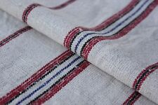 GRAINSACK GRAIN SACK COTTON LINEN  red black and blue