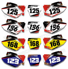 Custom Number Plate Backgrounds Graphics For HONDA CRF450R CRF450 2005-2006