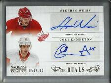 Stephen Weiss-Cory Emmerton 13/14 National Treasures Autograph #51/100