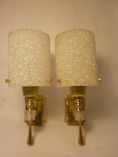 Pair of Vintage French wall lights, perspex, plastic, retro, 1950/60's