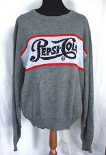 Vintage Pepsi Cola Crew Neck Sweater - M or L Gray White 3 Strikes New York Soda