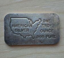 Rare Vintage -  American Silver -  Collectible Bar 1 Troy Oz .999 Fine Silver