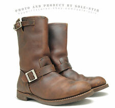 1DaySALE! $320 RED WING 12D Heritage 2991 Engineer Boots Brown Cork Soles USA