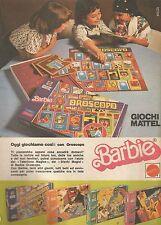 X9037 Barbie - Oggi giochiamo con Oroscopo - Pubblicità 1977 - Advertising