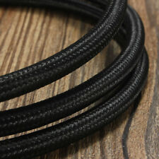 1M/5M/10M 3 Cord Vintage Color Twist Braided Fabric Light Cable Electric Wire