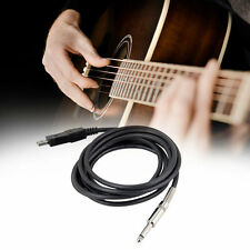 3M Guitar Bass 1/4 USB TO 6.3mm Jack Link Connection Instrument Cable Adapte GL