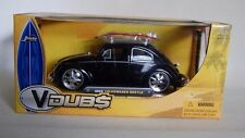 JADA VDUBS 1959 Volkswagen Beetle w / Surf Board - Black No. 53045 1:24 Diecast