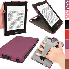 Lila PU Leder Tasche Hülle Etui Cover für Amazon Kindle Paperwhite WiFi 2GB Case