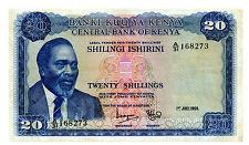Kenya … P-8a … 20 Shillings … 1969 … *VF+*