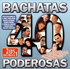 40 Bachatas Poderosas by Various Artists (CD, Oct-2008, 2 Discs, Sony BMG)