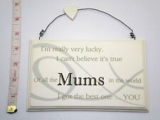 Lucky Mums Wall Plaque Gift Ideas for Mum & Her For Mothers Day & Birthdays