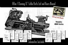 "Atlas/Clausing 12"" Lathe 4800 Series Parts List and User Manual Schematics etc."