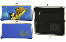 Disney Beauty and the Beast Belle Kisslock WALLET Clutch Bank Card Holder Tote