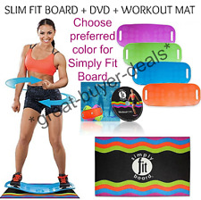 Simply Fit Board The Abs Legs Core Balance Board Includes DVD And Workout Mat
