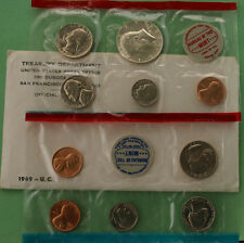 1969 United States Mint Uncirculated 10 Coin Set BU P D and Some S