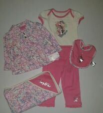 Baby Phat Infant Girls Set 5-PC Layette Blanket Jacket Pants Bib Size 6-9 Months