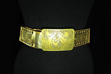 """""""GOLDEN DYNASTY"""" ENGRAVED BROWN BELT WITH EYELETS BRAND NEW (BL1)"""