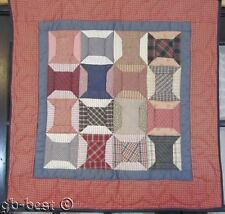 PA Amish Spools Quilt CALICOS Quilted Hearts Crib Wall GIFT