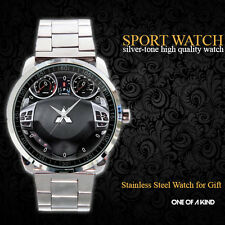 New Hot Design Mitsubishi Lancer GT Dash Steering Wheel Sport Metal Watch