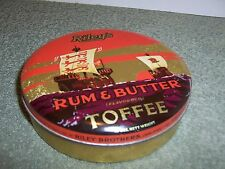 VINTAGE RILEY'S RUM & BUTTER TOFFEE FOOD TIN 2 LB RILEY BROTHERS