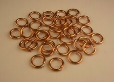16 Ga Solid Copper 8 Mm O/D Jump Ring 140 P. 1 Oz Pkg. Saw-Cut Made In Usa