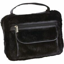 Black Faux Mink Bible Cover, Womens Large Zippered Girls Fur Book Protector