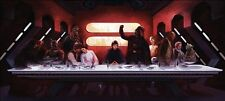 POSTER STAR WARS L'ULTIMA CENA 100X45 CM THE LAST SUPPER DARTH FENER VADER #1