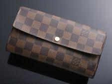 G5768M Authentic Louis Vuitton Damier Sarah Long Wallet