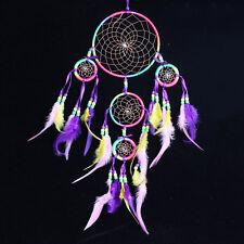Dreamcatcher Traumfänger Perlen Federn Kauri Spiegel Träume Rainbow Herz Leder