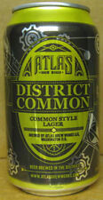 DISTRICT COMMON Beer CAN w/ HANCOCK FOUNTAIN PEN, Atlas Brewing WASHINGTON DC 1+