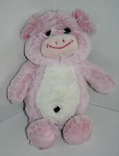 "Kellytoy Plush PIG 13"" Pink White Piglet Belly Button Stuffed Animal Soft Toy"