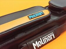 MOLINARI CUE CASE 3x6  ORANGE/BLACK