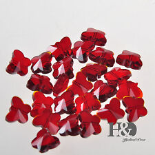 50 pcs 14mm AAA Butterfly Red Crystal Glass Beads Lamp Chandelier Chain Parts
